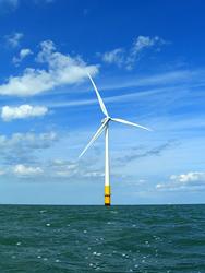 Wind turbine at sea