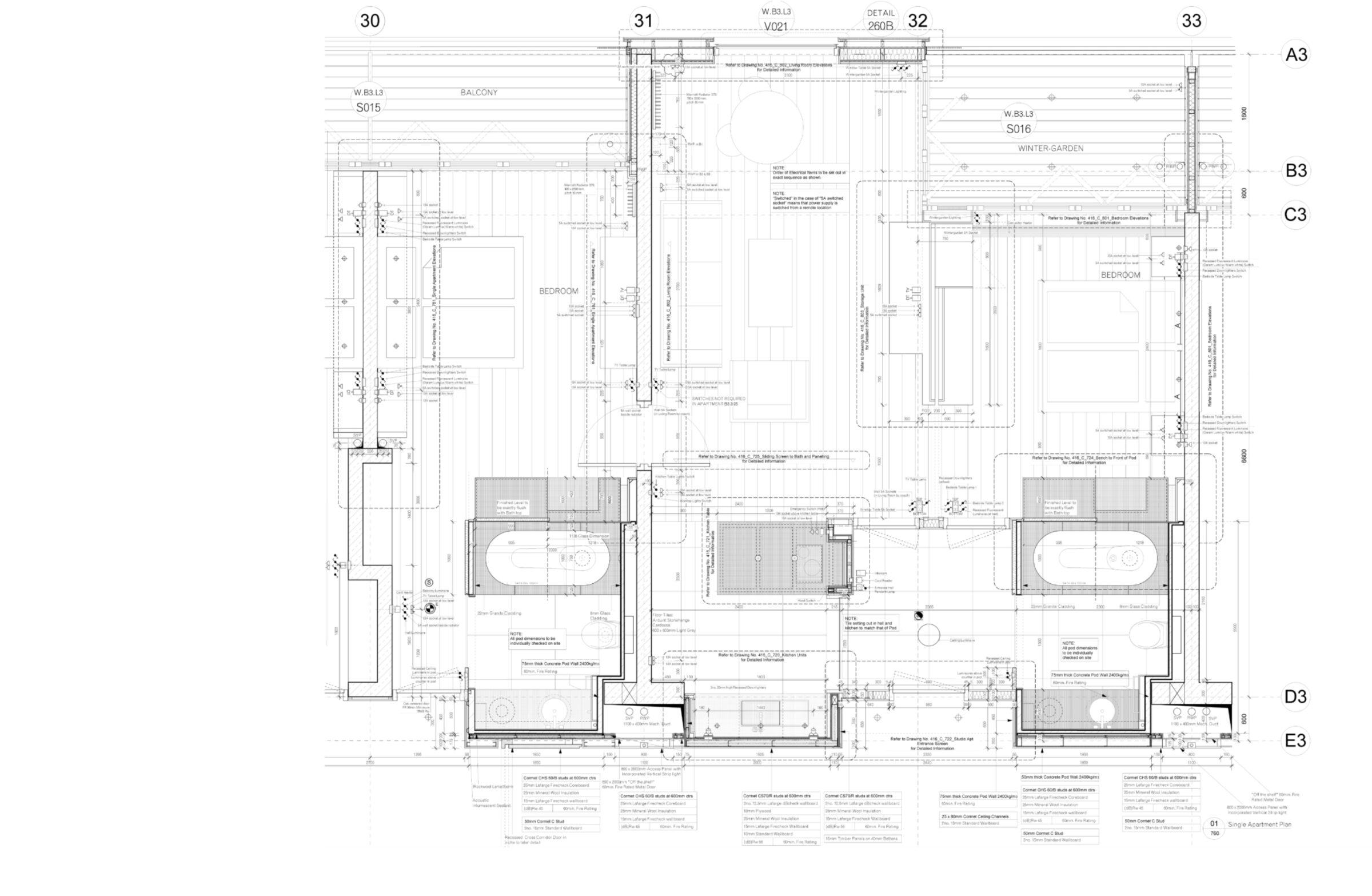 Ausführungsplanung Zimmer