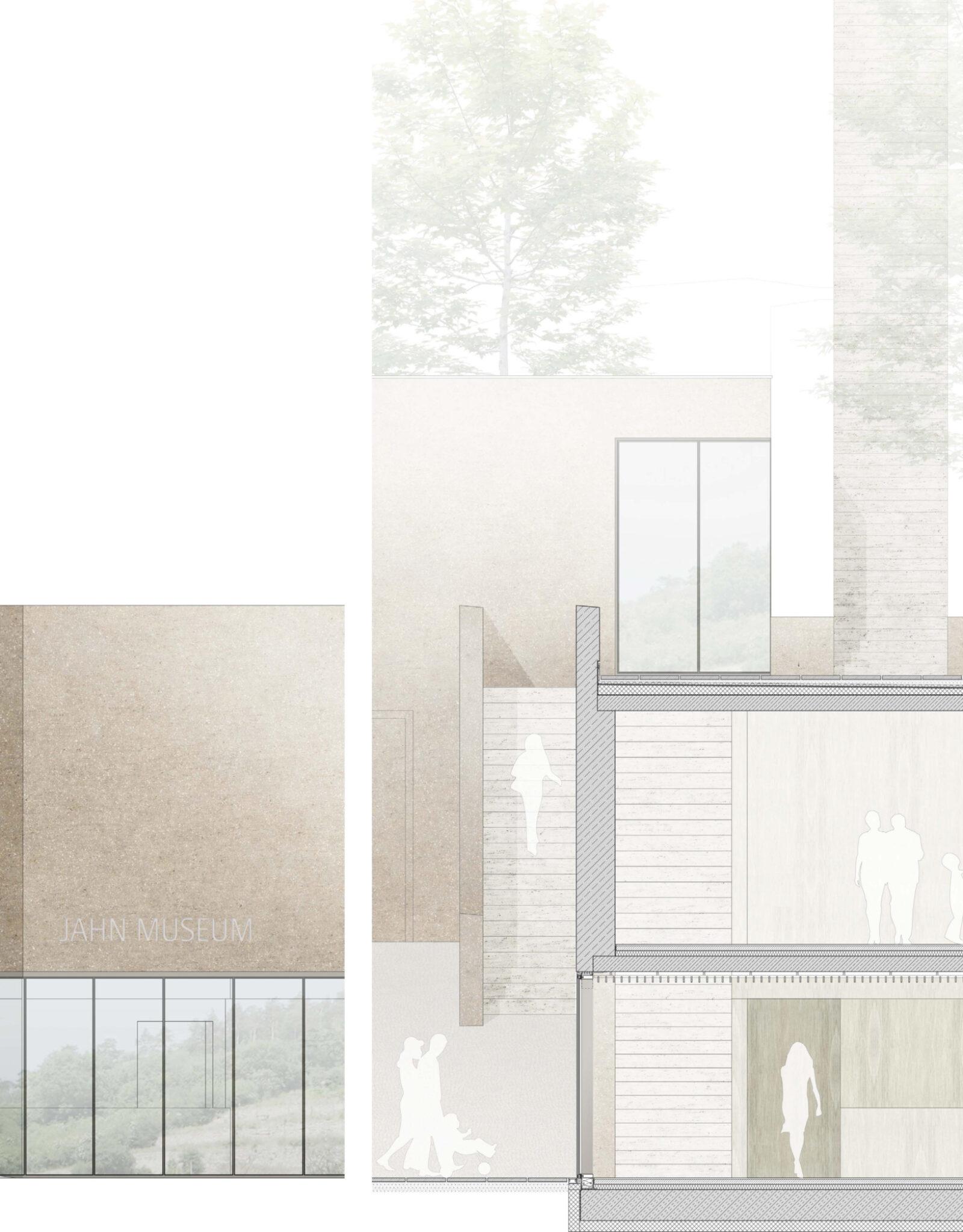 Ansicht / Schnitt Foyer + Sonderausstellung