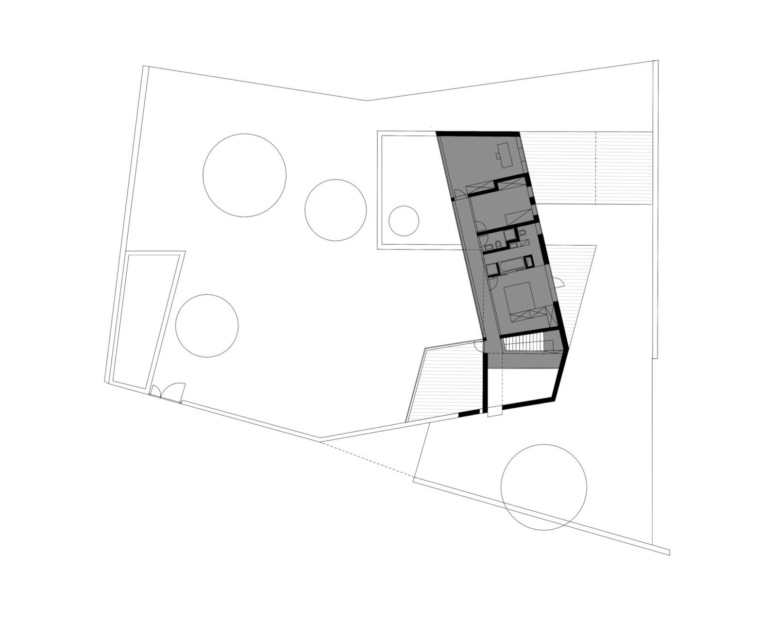 Wall House Upper Floor Plan