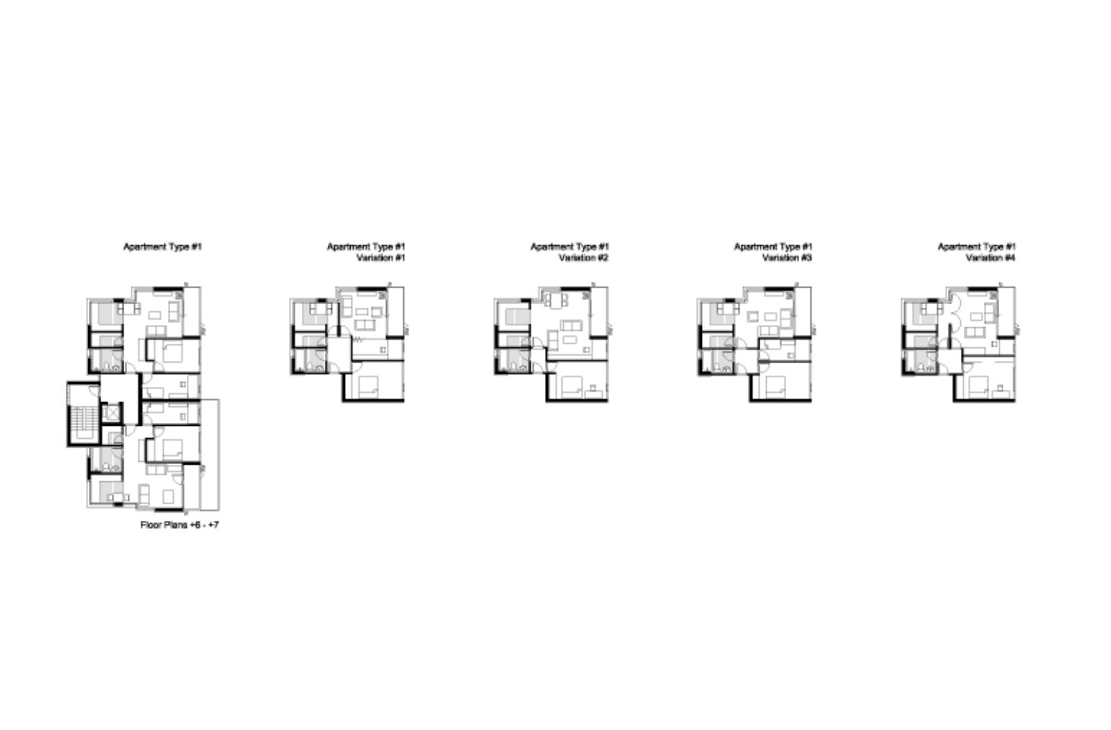 Floor Plans – Variations of Apartments