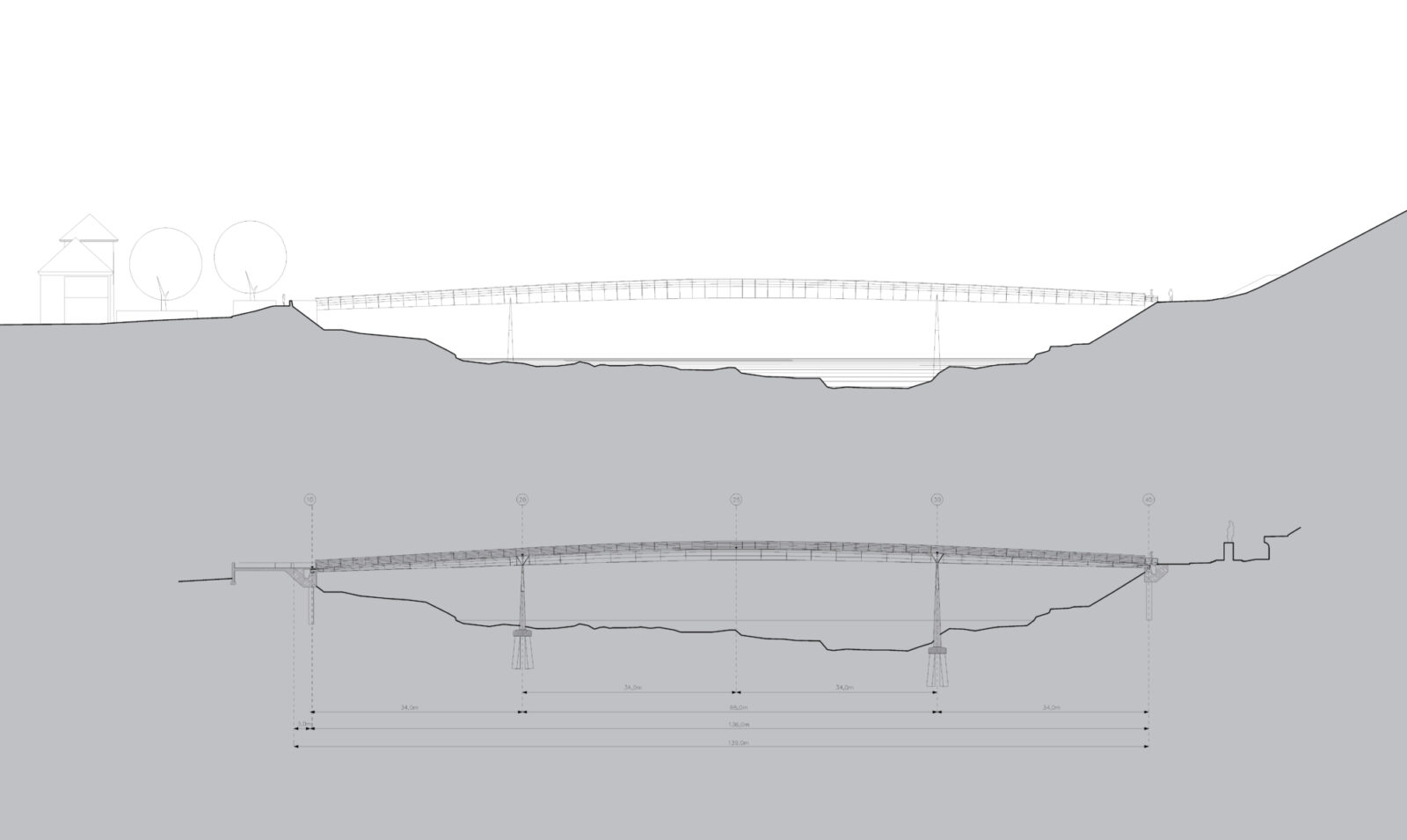 Long Section and Elevation