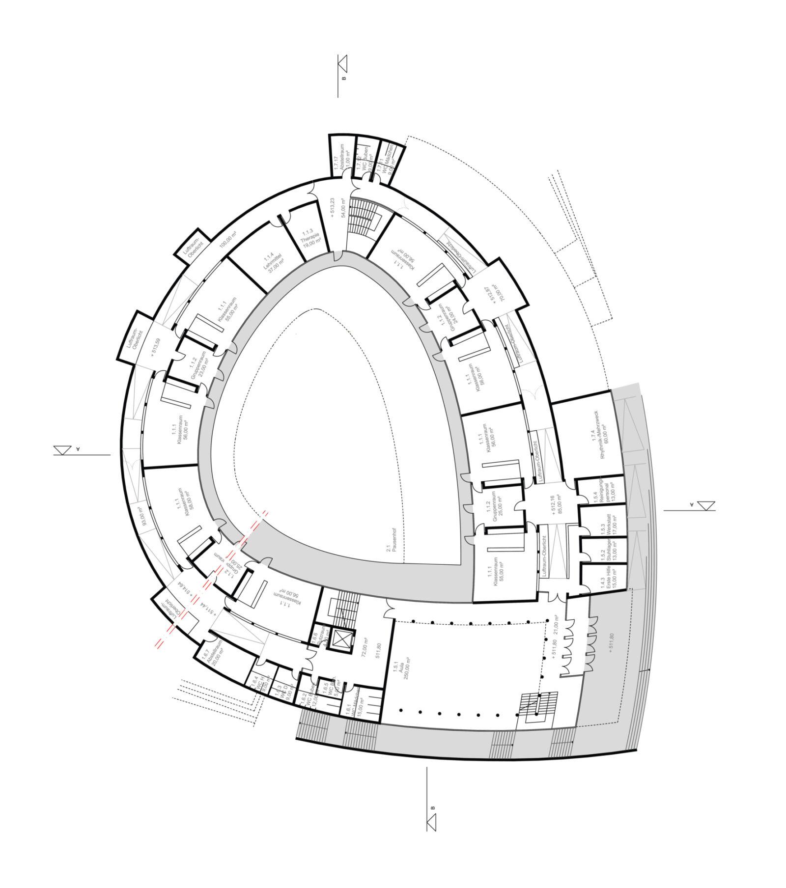 Sec School First Floor Plan