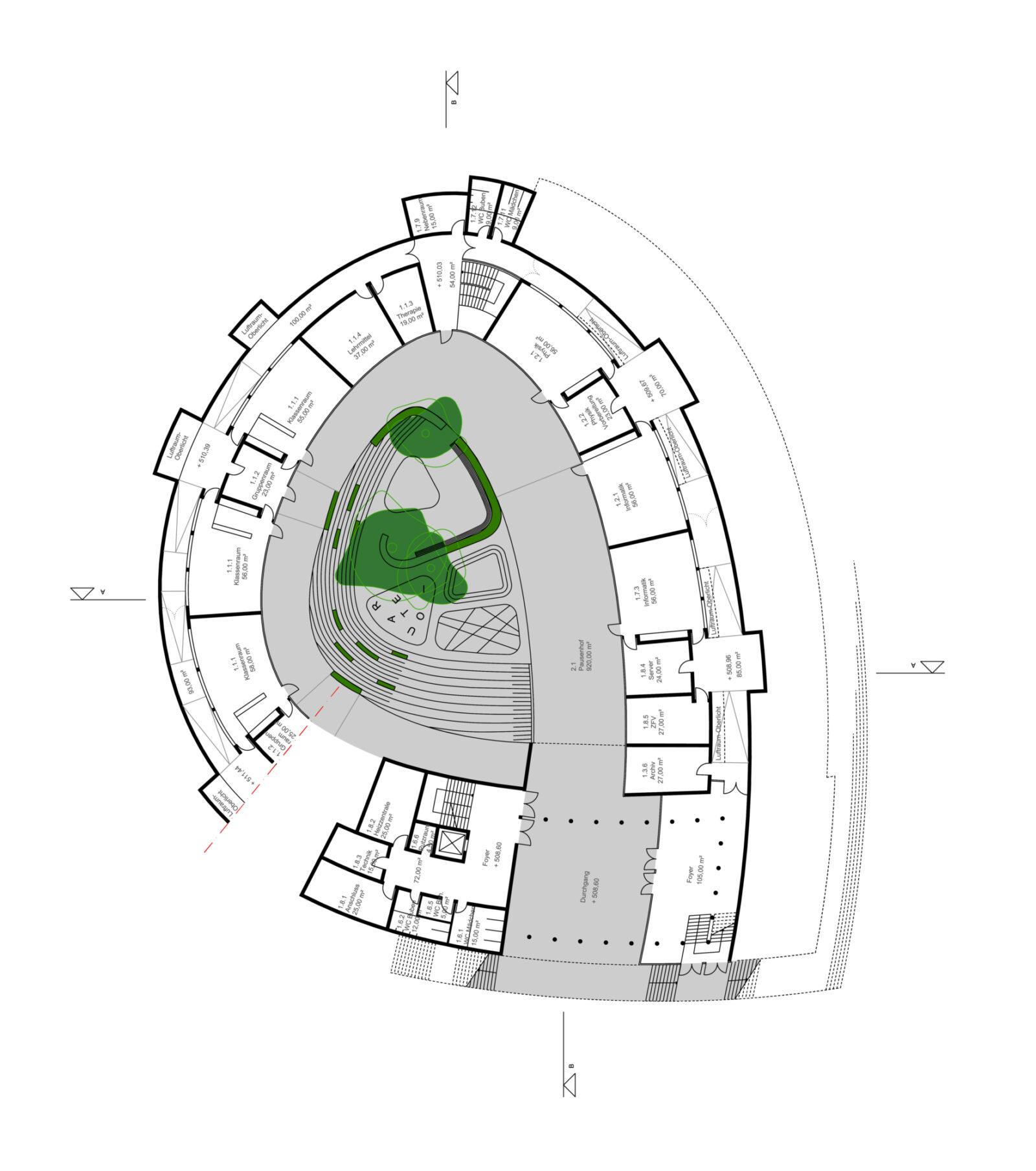 Sec School Ground Floor Plan