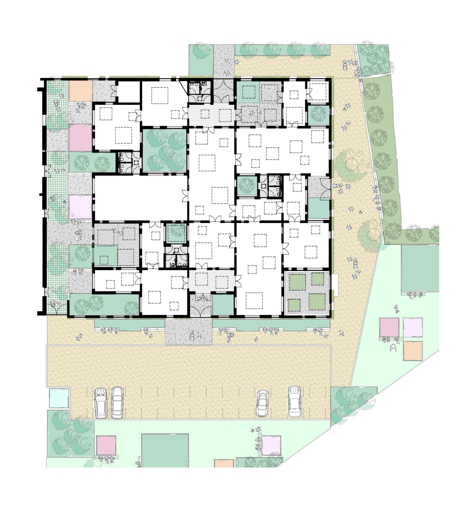 Youth centre henchion reuter architects floor plan jameslax Image collections
