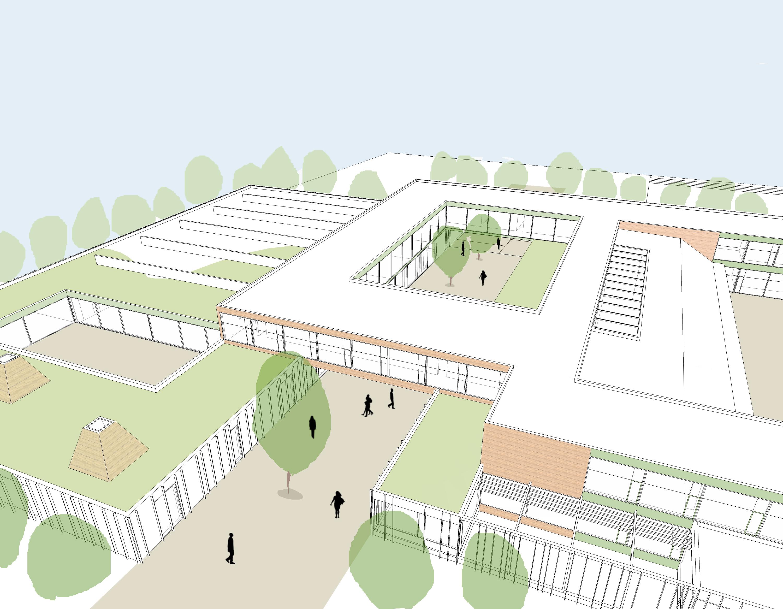 Primary School Plan Elevation : Primary school holzkirchen henchion reuter architects