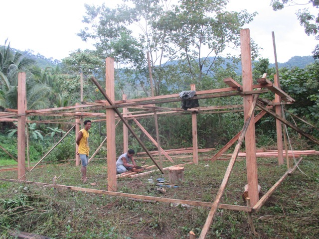Ongoing construction of volunteer forest guards training hall