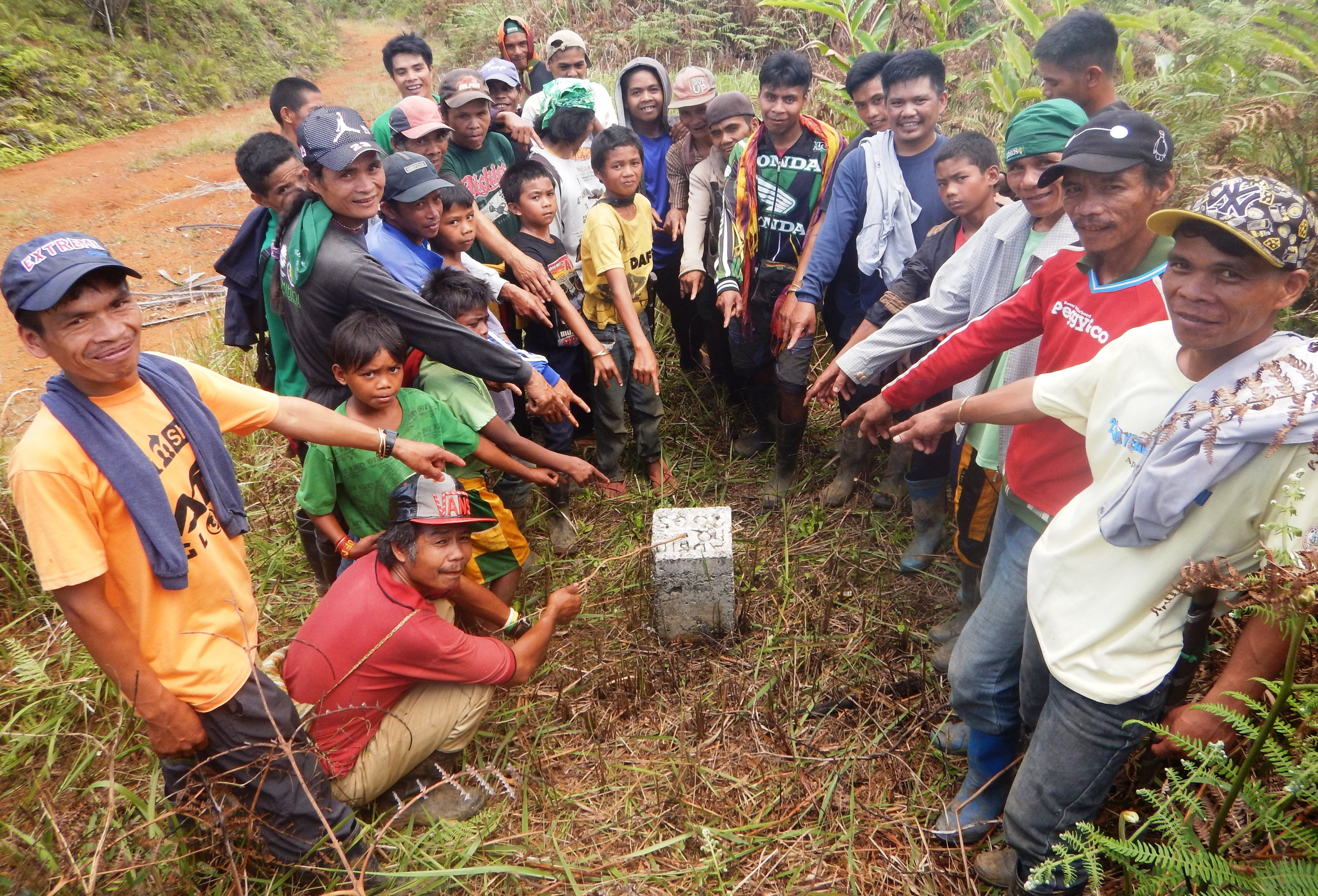 2. community members at one of the boundary marker of their ancestral domain during the conduct of annual forest monitoring