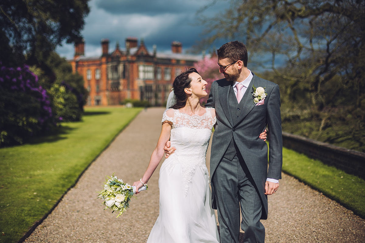 Bride and Groom Photo Shoot Wedding Portrait Photography Arley Hall Manchester and Cheshire Wedding Photographer