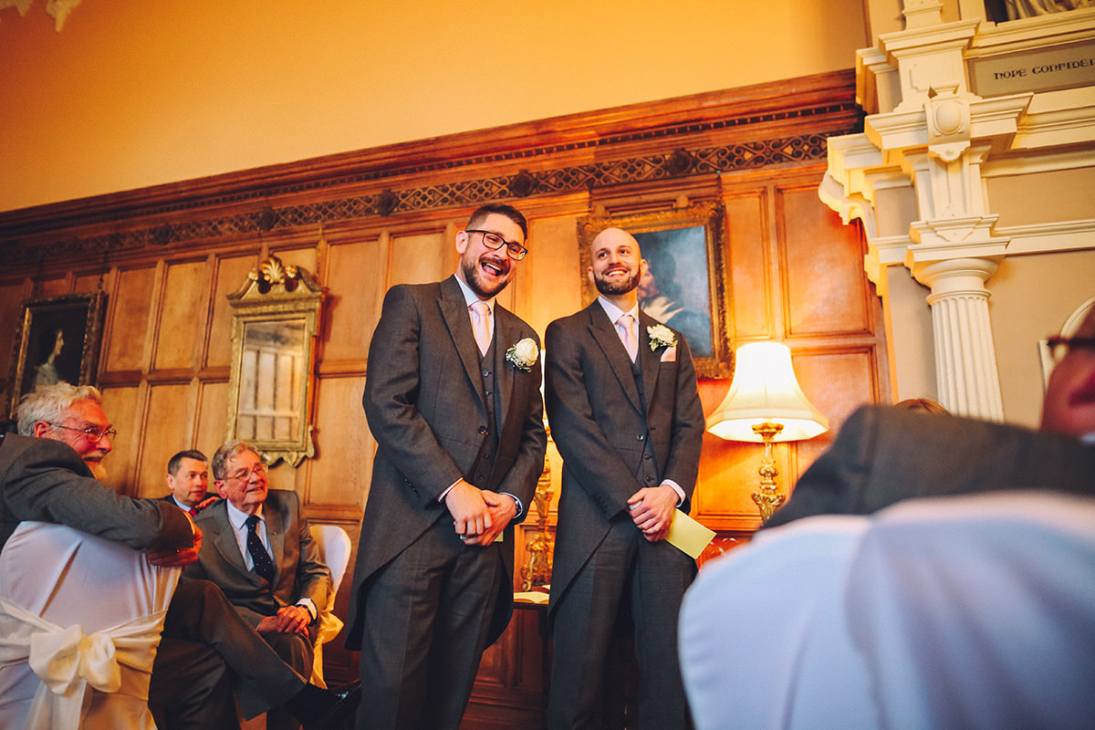 Groom and Best Man Arley Hall Wedding Photography Manchester and Cheshire Wedding Photographer