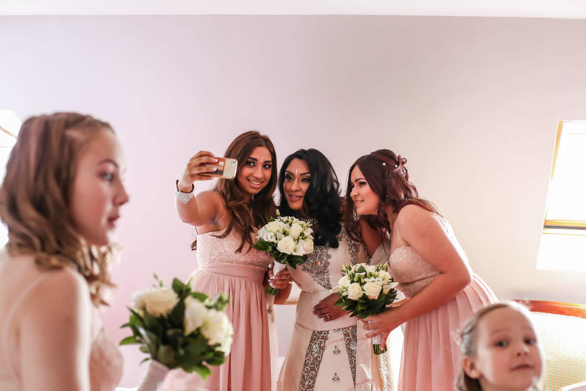 Bride and Bridesmaids Wedding Photography Manchester