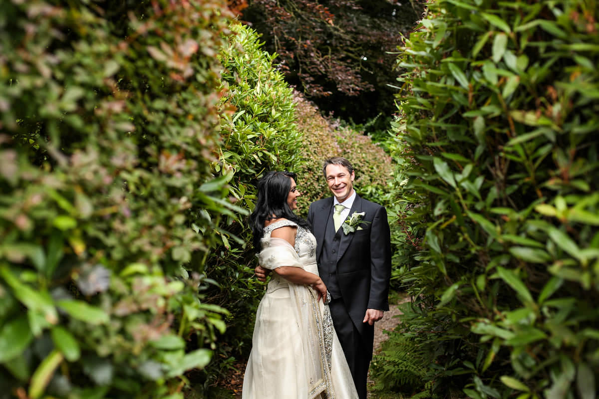 Bride and Groom at Mere Court Hotel Wedding Photographer Manchester
