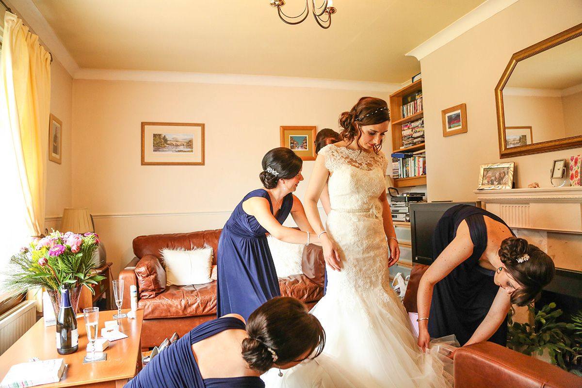 Bride getting ready Wedding Photography Cheshire