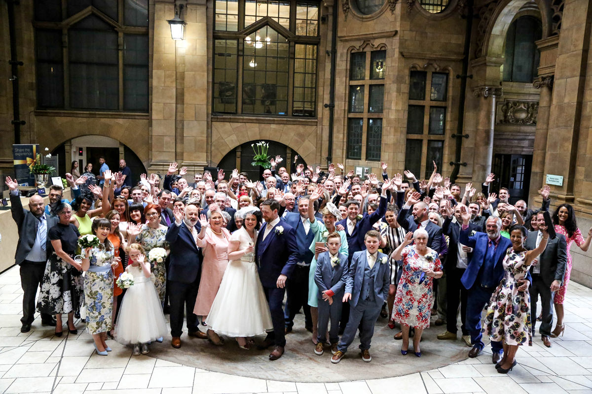 Everybody, The Palace Hotel Manchester. Wedding Photographer Manchester and Cheshire.