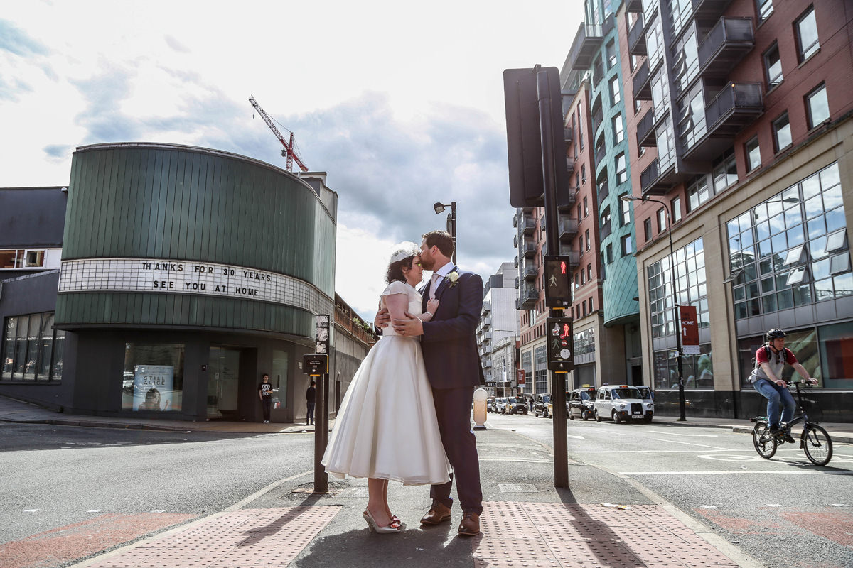 Love on the Corner Urban Wedding Photography. Wedding Photographer Manchester and Cheshire