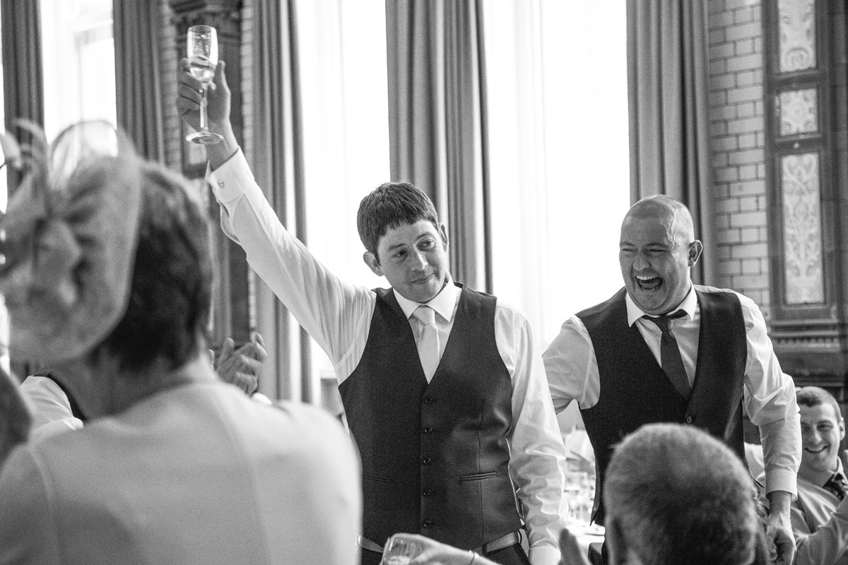 Toast, Wedding Photographer Manchester and Cheshire at the Palace Hotel.