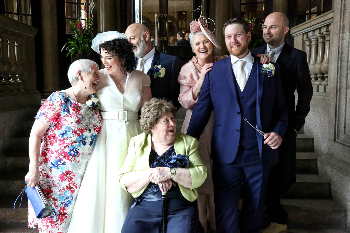 Family, The Palace Hotel Manchester. Wedding Photographer Manchester and Cheshire.