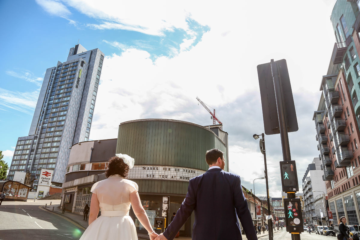 Urban Wedding Photography at the Corner House. Wedding Photographer Manchester and Cheshire