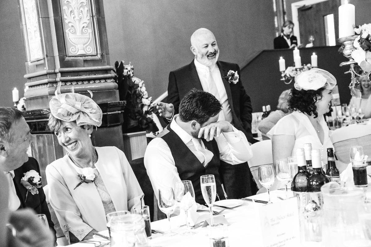 Good Speech. Wedding Photographer Manchester and Cheshire at the Palace Hotel.