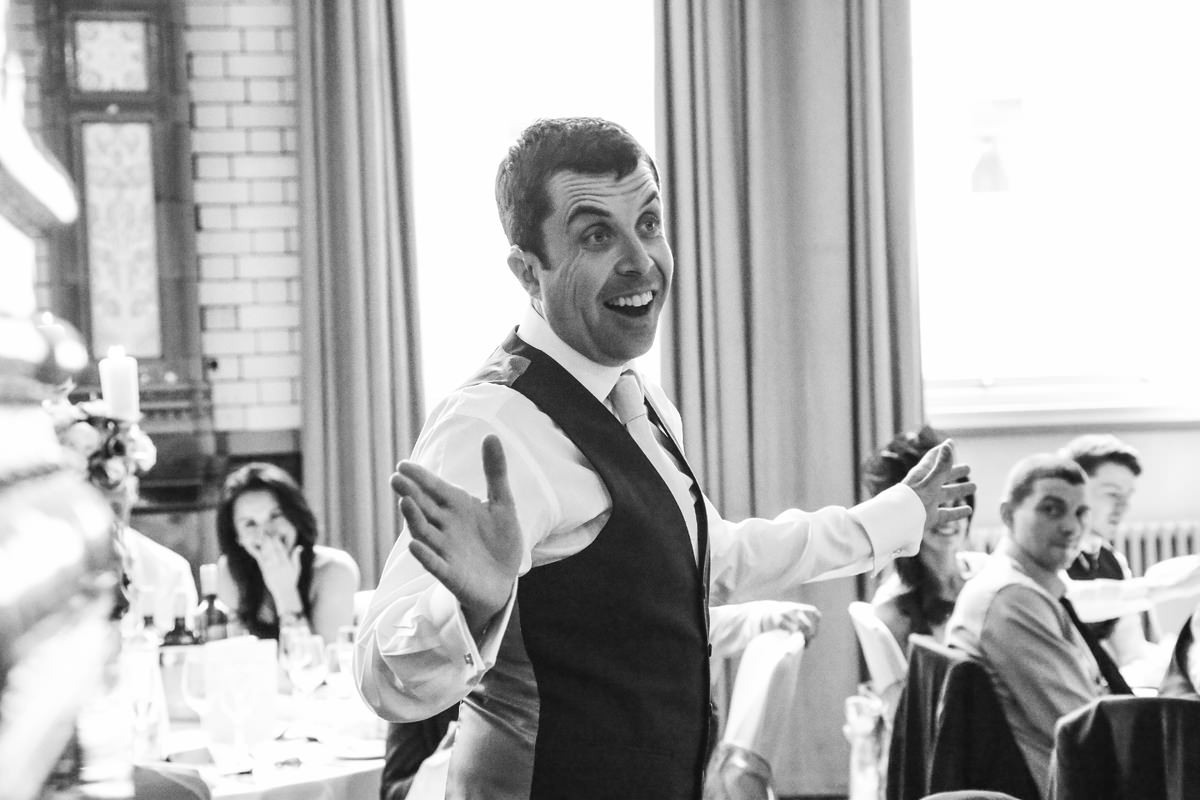 Speeches. Wedding Photographer Manchester and Cheshire at the Palace Hotel.