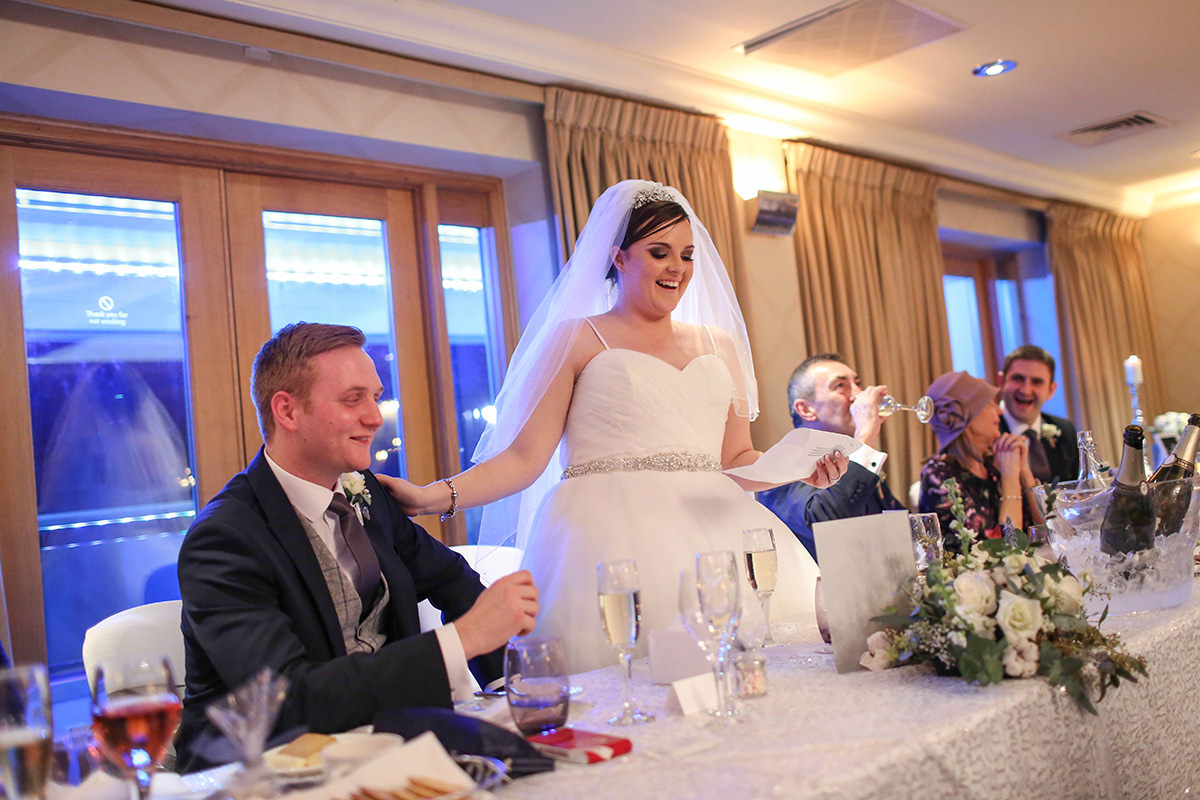 Bride Speech, Manchester and Cheshire Wedding Photographer, Cottons Hotel Wedding Photography