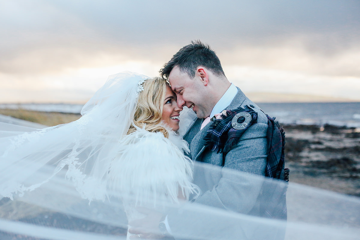 Creative Wedding Photography by The Sea Troon Scotland