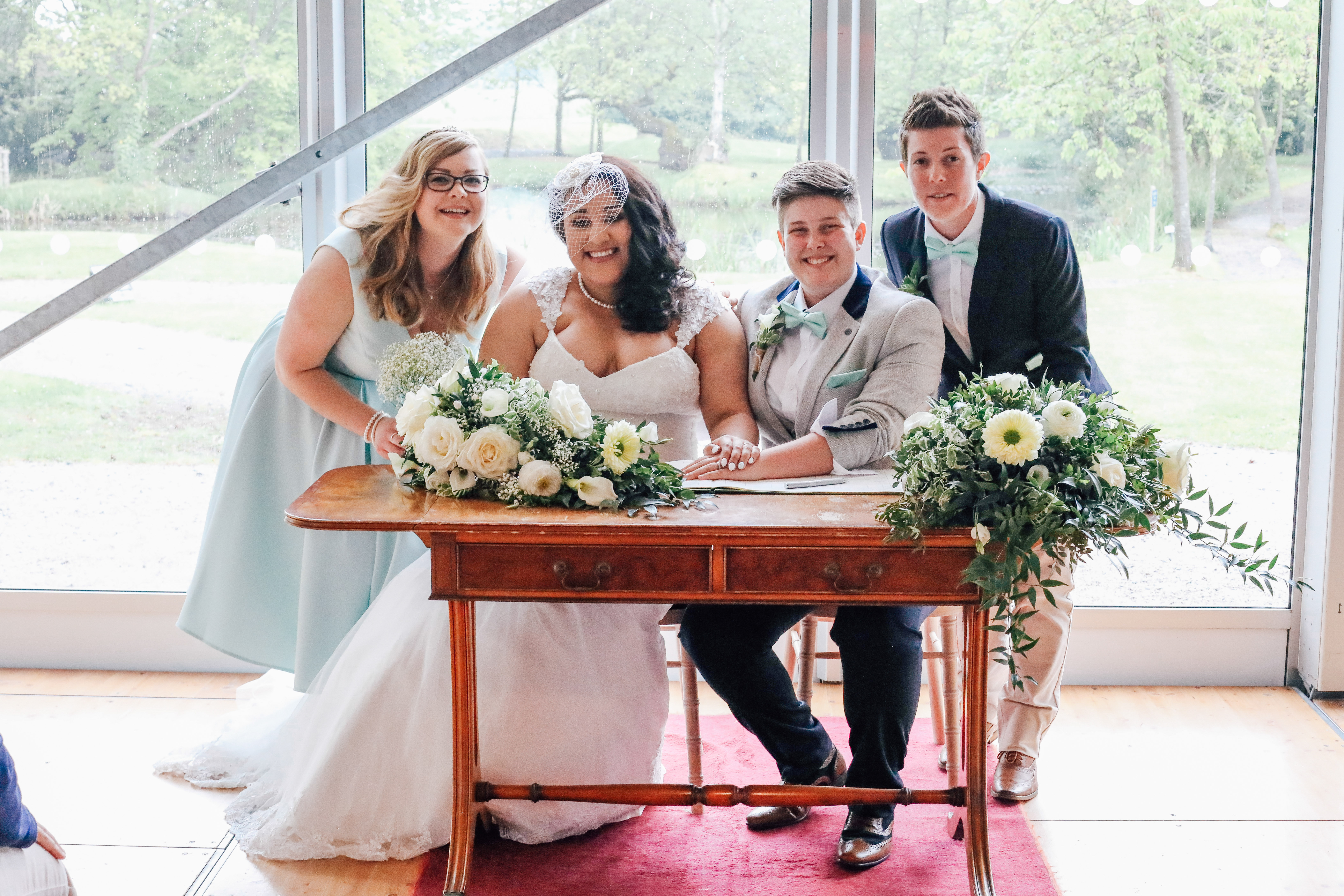 Signing the Register Civil Partnership Photography Manchester