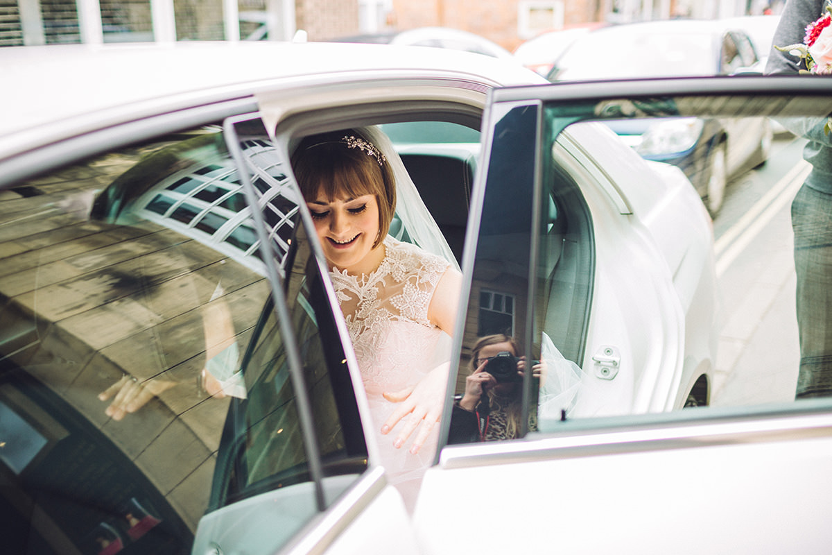 Candid Wedding Photography Bride Arriving Belle Epoque