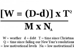 fórmula matemática blue monday