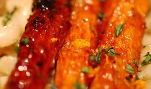 Rôti de veau aux carottes et oignons nouveaux