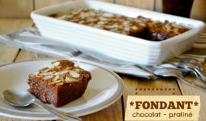 Fondant au chocolat, caramel, praliné et amande à l'Omnicuiseur