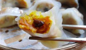 Raviolis vapeur aux carottes confites et shiitakés