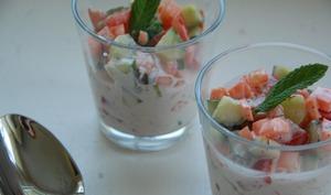 Salade de légumes façon raïta - Maman...ça déborde