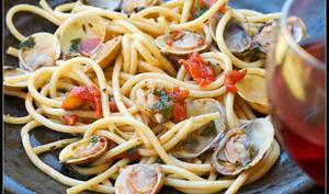 spaghettis aux almejas