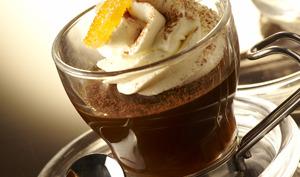 Tremblant de café à l'orange en cappuccino de mascarpone