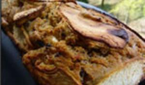 Cake sucré-salé: Pomme, Bacon, Feta, Olives