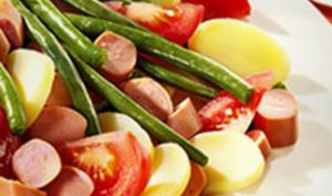 Salade aux pommes de terre et aux Knacki