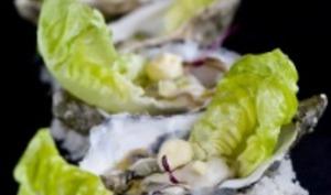 Huîtres de l'anse du Pô en escabèche de gingembre et bergamote