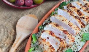 Délices d'orient: salade tiède de couscous aux graines