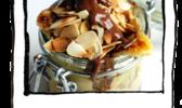 Aumonière aux pommes sauce caramel beurre salé