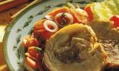 Poitrine de veau farcie aux carottes braisees