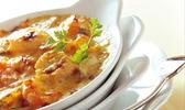 Cassolette de fruits de mer au beurre blanc.