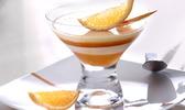 Coupe rafraîchie à la crème brûlée à l'orange