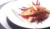 Filet de rouget rôti à la fleur de thym  sauce échalotes et au muscadet