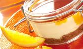 Le parfait de panna cotta à l'orange, expresso et caramel