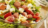 Salade de pâtes aux knacki à l'italienne