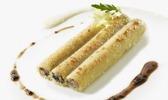 Macaronis farcis truffe noire, artichaut et foie gras de canard, gratinés au vieux parmesan