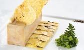 Foie gras de canard cuit au naturel, gelée de coings et ficoïde glaciale