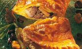 Chausson de confit de canard au foie gras de canard