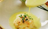 Sashimi de coquilles st-jacques, des de foie gras